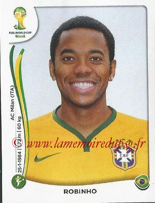 2014 - Panini FIFA World Cup Brazil Stickers - N° 047 - ROBINHO (Brésil)