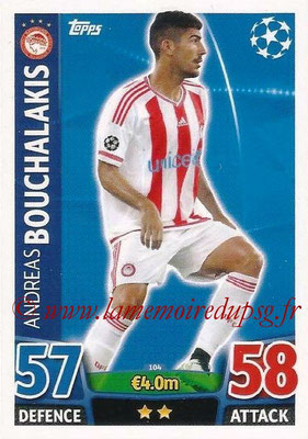 2015-16 - Topps UEFA Champions League Match Attax - N° 104 - Andreas BOUCHALAKIS (Olympiacos FC)
