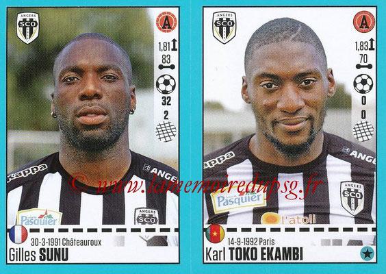 2016-17 - Panini Ligue 1 Stickers - N° 042 + 043 - Gilles SUNU + Kar TOKO EKAMBI (Angers)