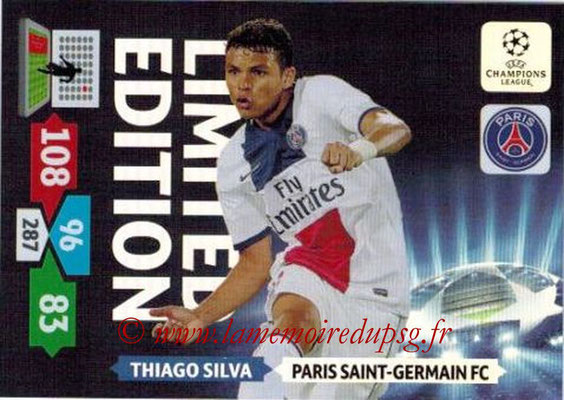 2013-14 - Adrenalyn XL champions League N° LE41 - Thiago SILVA (Paris Saint-Germain) (Limited edition)