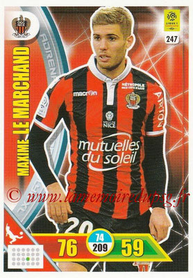 2017-18 - Panini Adrenalyn XL Ligue 1 - N° 247 - Maxime LE MARCHAND (Nice)