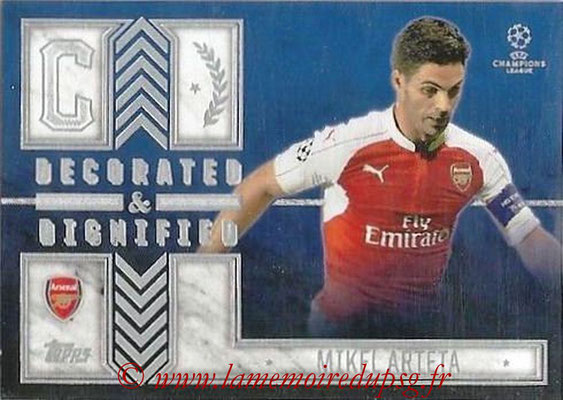 2015-16 - Topps UEFA Champions League Showcase Soccer - N° DD-MA - Mikel ARTETA (Arsenal FC) (Decorated and Dignified)