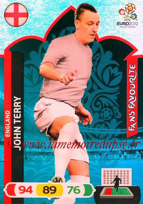 Panini Euro 2012 Cards Adrenalyn XL - N° 248 - John TERRY (Angleterre) (Fans' Favourite)