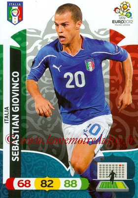Panini Euro 2012 Cards Adrenalyn XL - N° 131 - Sebastian GIOVINCO (Italie)