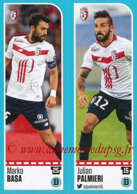 2016-17 - Panini Ligue 1 Stickers - N° 264 + 265 - Marko BASA + Julian PALMIERI (Lille)