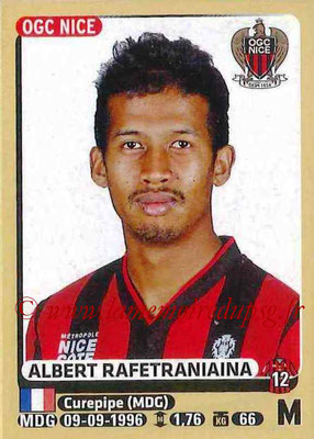 2015-16 - Panini Ligue 1 Stickers - N° 328 - Albert RAFETRANIAINA (OGC Nice)