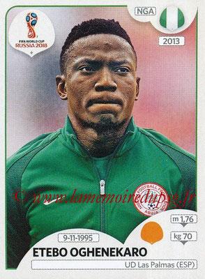 2018 - Panini FIFA World Cup Russia Stickers - N° 343 - Etebo OGHENEKARO (Nigeria)