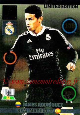 2014-15 - Adrenalyn XL champions League Update edition N° LEU-JR - James RODRIGUEZ (Real Madrid) (Limited Edition)