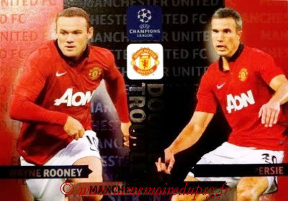 2013-14 - Adrenalyn XL champions League N° NE13 - Wayne ROONEY + Robin VAN PERSIE (Manchester United FC) (Double trouble)