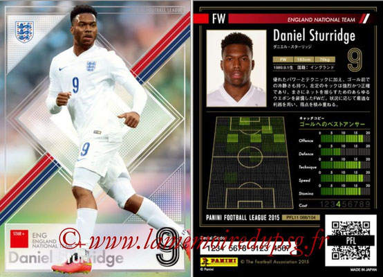 Panini Football League 2015 - PFL11 - N° 088 - Daniel STURRIDGE (Angleterre) (Star +)