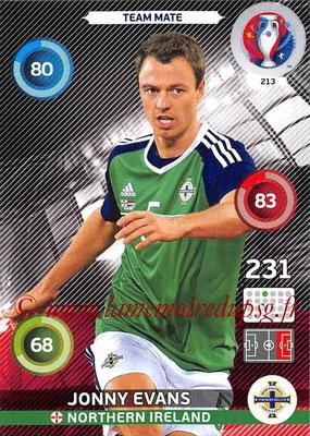 Panini Euro 2016 Cards - N° 213 - Jonny EVANS (Irlande du Nord)