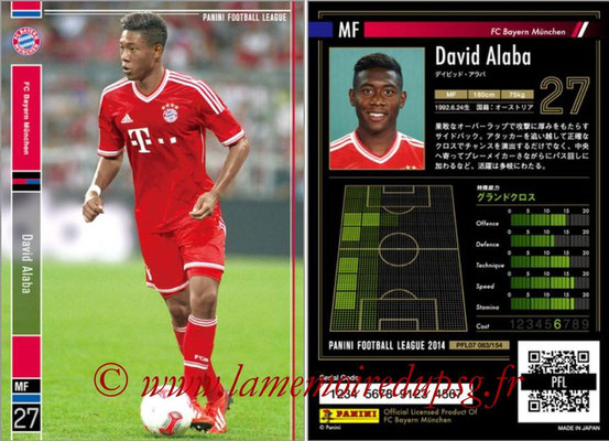 Panini Football League 2014 - PFL07 - N° 083 - David ALABA (Bayern Munich)