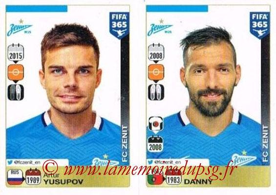 2015-16 - Panini FIFA 365 Stickers - N° 755-756 - Artur YUSUPOV + DANNY (FC Zenit)