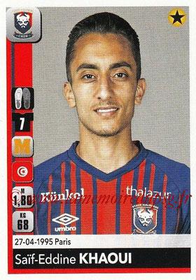 2018-19 - Panini Ligue 1 Stickers - N° 087 - Saîf-Eddine KHAOUI (Caen)