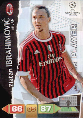2011-12 - Panini Champions League Cards - N° 170 - Zlatan IBRAHIMOVIC (Milan AC) (Star Player)