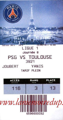 Tickets  PSG-Toulouse  2013-14