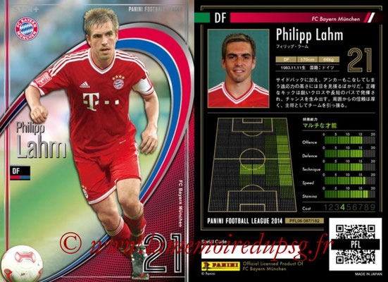 Panini Football League 2014 - PFL06 - N° 087 - Philipp LAHM (FC Bayern Munich) (Star +)
