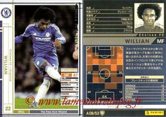2015-16 - Panini WCCF - N° A08 - WILLIAN (Chelsea FC)