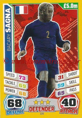 Topps Match Attax England 2014 - N° 105 - Bacary SAGNA (France)