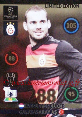 2014-15 - Adrenalyn XL champions League N° LE-WS - Wesley SNEIJDER (Galatasaray AS) (Limited Edition)