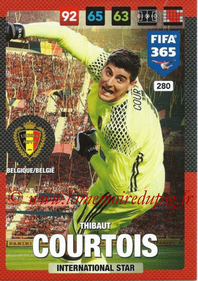 2016-17 - Panini Adrenalyn XL FIFA 365 - N° 280 - Thibaut COURTOIS (Belgique) (International Star)
