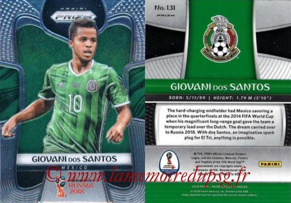 2018 - Panini Prizm FIFA World Cup Russia - N° 131 - Giovani DOS SANTOS (Mexique)