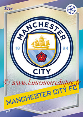 2016-17 - Topps UEFA Champions League Match Attax - N° MC1 - Logo Manchester City FC
