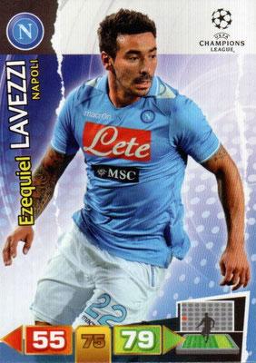 2011-12 - Panini Champions League Cards - N° 181 - Ezequiel LAVEZZI (Naples)
