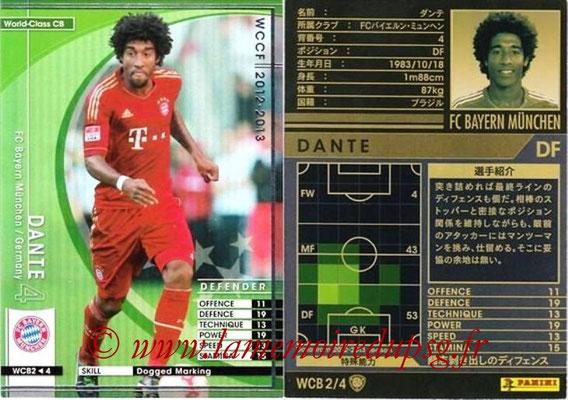2012-13 - WCCF - N° WCB2 - DANTE (FC Bayern Munich) (World Class CB)