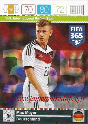 2015-16 - Panini Adrenalyn XL FIFA 365 - N° 359 - Max MEYER (Allemagne) (International Rising Star)