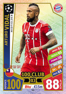 2017-18 - Topps UEFA Champions League Match Attax - N° 424 - Arturo VIDAL (Club Atletico de Madrid) (UCL Club XI)