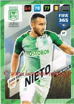 2017-18 - Panini FIFA 365 Cards - N° 057 - Juan Pablo NIETO (Atletico Nacional)