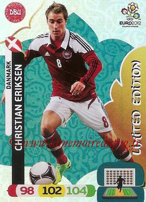 Panini Euro 2012 Cards Adrenalyn XL - N° LE06 - Christian ERIKSEN (Danemark) (Limited Edition)