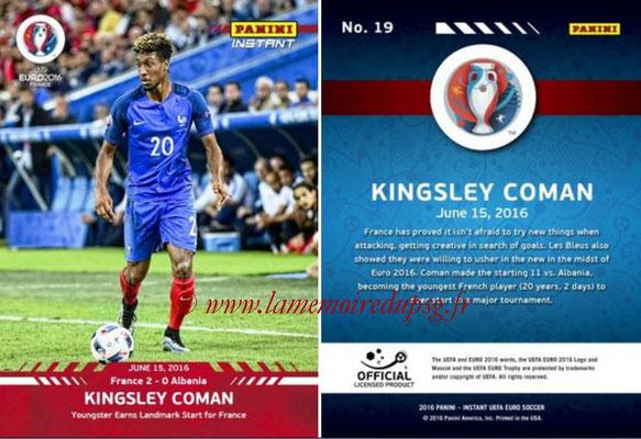 Panini Instant Euro 2016 - N° 019 - Kingsley COMAN