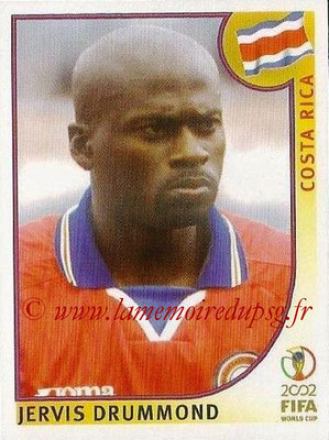2002 - Panini FIFA World Cup Stickers - N° 226 - Jervis DRUMMOND (Costa Rica)