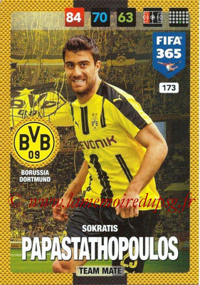 2016-17 - Panini Adrenalyn XL FIFA 365 - N° 173 - Sokratis PAPASTATHOPOULOS (Borussia Dortmund)