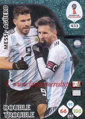 2018 - Panini FIFA World Cup Russia Adrenalyn XL - N° 433 - Lionel MESSI + Sergio AGÜERO (Argentine) (Double Trouble)
