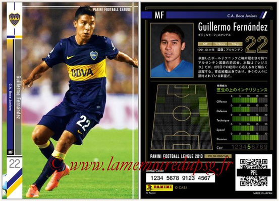 Panini Football League 2013 - PFL04 - N° 086 - Guillermo FERNANDEZ (Boca Juniors)