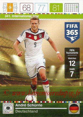 2015-16 - Panini Adrenalyn XL FIFA 365 - N° 341 - André SCHÜRRLE (Allemagne) (International Star)