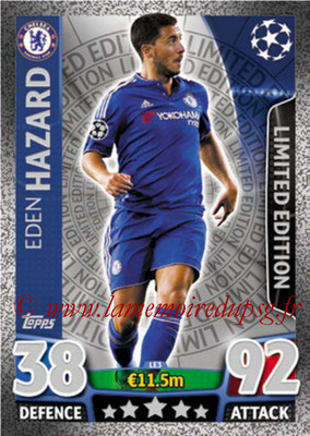 2015-16 - Topps UEFA Champions League Match Attax - N° LE3 - Eden HAZARD (Chelsea FC) (Limited Edition Silver)