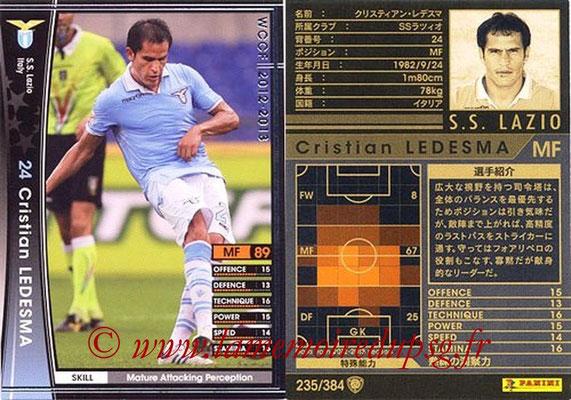 2012-13 - WCCF - N° 235 - Cristian LEDESMA (SS Lazio)