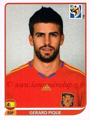 2010 - Panini FIFA World Cup South Africa Stickers - N° 566 - Gerard PIQUE (Espagne)