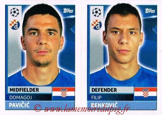 2016-17 - Topps UEFA Champions League Stickers - N° QFC 7-8 - Filip BENKOVIC + Domagoj ANTOLIC (GNK Dynamo Zagreb)