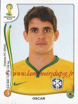 2014 - Panini FIFA World Cup Brazil Stickers - N° 044 - OSCAR (Brésil)