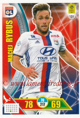 2017-18 - Panini Adrenalyn XL Ligue 1 - N° 131 - Maciej RYBUS (Lyon)