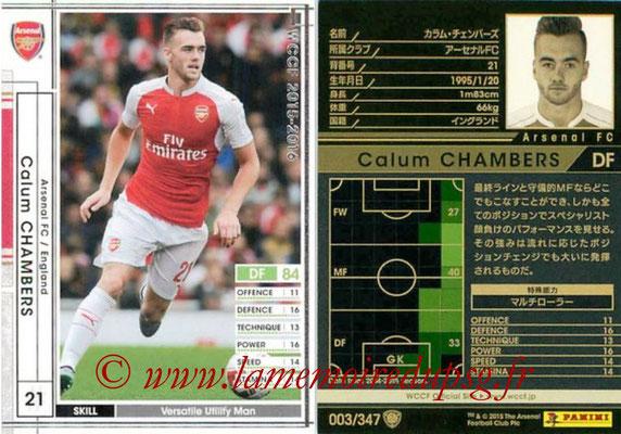 2015-16 - Panini WCCF - N° 003 - Calum CHAMBERS (Arsenal FC)