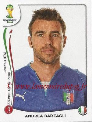 2014 - Panini FIFA World Cup Brazil Stickers - N° 320 - Andrea BARZAGLI (Italie)