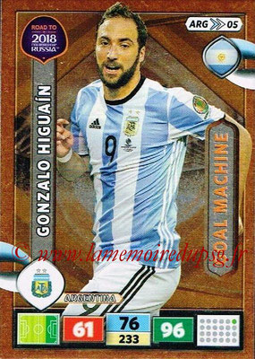 2018 - Panini Road to FIFA World Cup Russia Adrenalyn XL - N° ARG05 - Gonzalo HIGUAIN (Argentine) (Goal Machine)