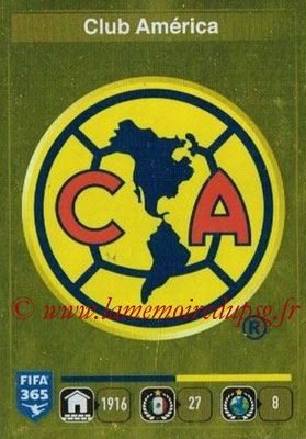 2015-16 - Panini FIFA 365 Stickers - N° 611- Ecusson Club America