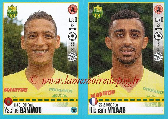 2016-17 - Panini Ligue 1 Stickers - N° 628 + 629 - Yacine BAMMOU + Hicham M'LAAB (Nantes)